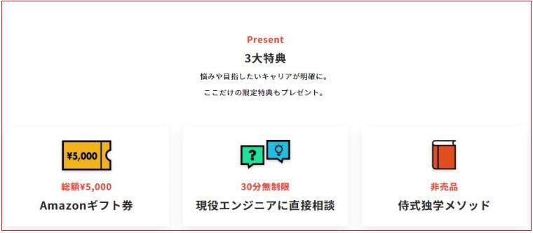 侍エンジニア塾無料体験の特典